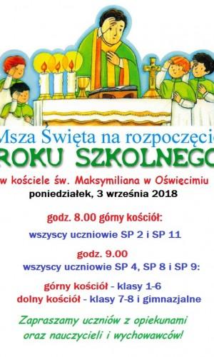 Rozpoczęcie roku szkolnego wkościele - plakat
