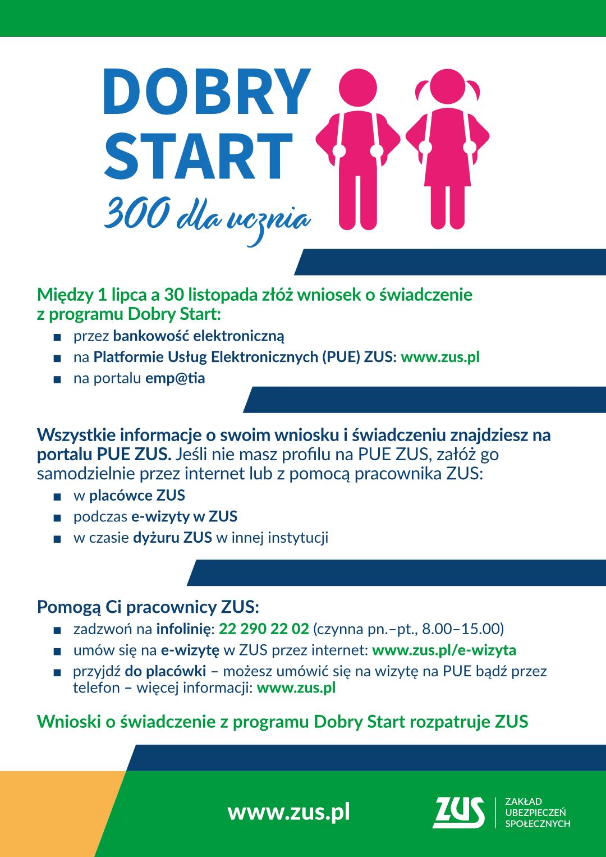 infografika Dobry Start - pion